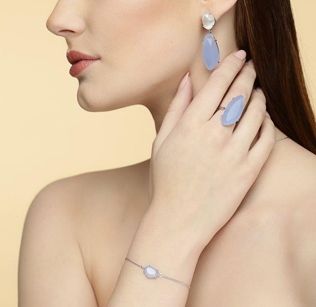 STAR OF SWEDEN | Ring | Silver | Light Sapphire Blue