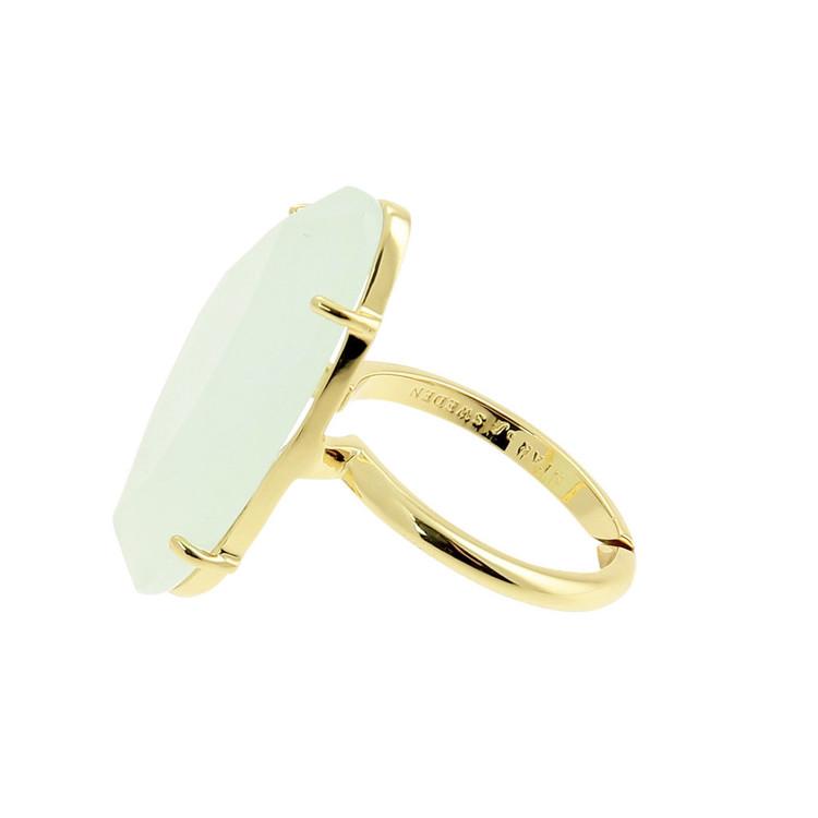 STAR OF SWEDEN | Ring | 18K Guld | Milky Aqua