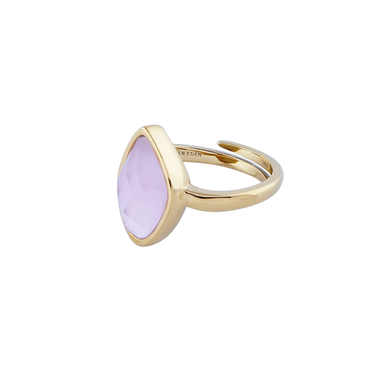 STAR OF SWEDEN | Ring Snödroppe | 18K Guld | Rosa sten