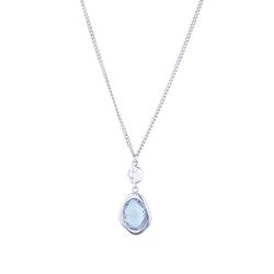 STAR OF SWEDEN | Långt halsband | Silver | Blå sten