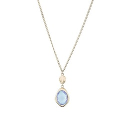 STAR OF SWEDEN | Långt halsband | 18K Guld | Blå sten