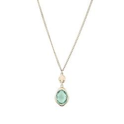 STAR OF SWEDEN | Långt halsband | 18K Guld | Grön sten