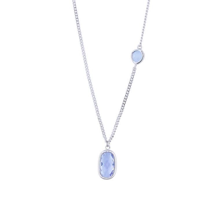 STAR OF SWEDEN | Kort halsband Ocean | Silver | Blå sten