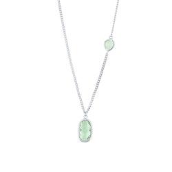 STAR OF SWEDEN | Kort halsband Ocean | Silver | Grön sten