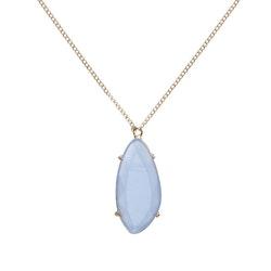 STAR OF SWEDEN | Långt halsband | 18K Guld | Light Sapphire Blue