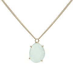 STAR OF SWEDEN | Kort halsband  | 18K Gold | Milky Aqua