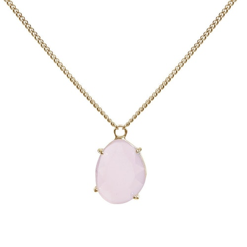 STAR OF SWEDEN | Kort halsband | 18K Guld | Powder Pink
