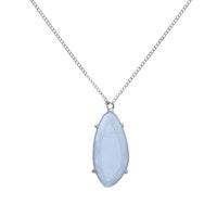 STAR OF SWEDEN   Långt halsband   Silver   Light Sapphire Blue