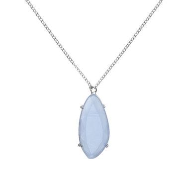 STAR OF SWEDEN | Långt halsband | Silver | Light Sapphire Blue