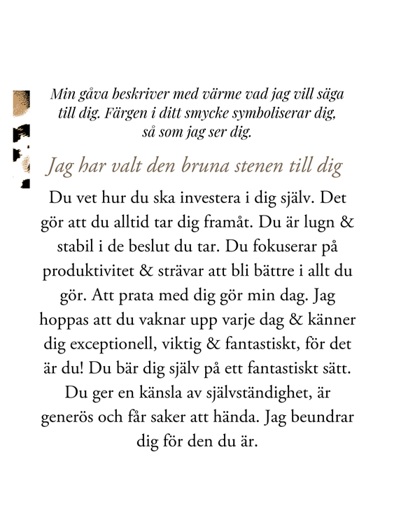 gåvobrev star of sweden smycken