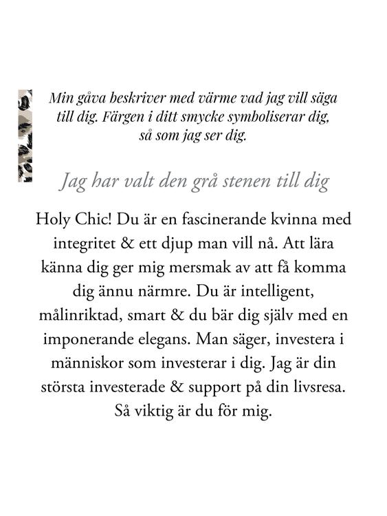 gåvobrev smycke star of sweden