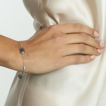 STAR OF SWEDN | Armband | Jet Set | Gracy Gray Silver