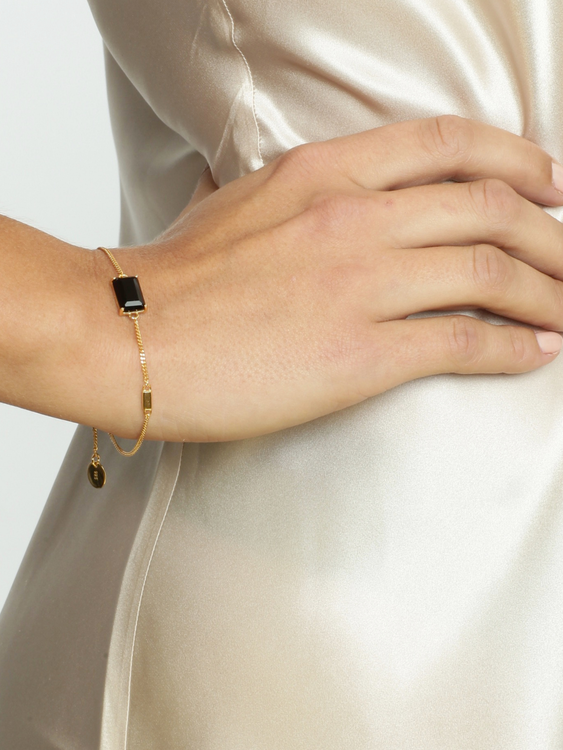 STAR OF SWEDEN | Armband | Jet Set | Dark Mystery Gold