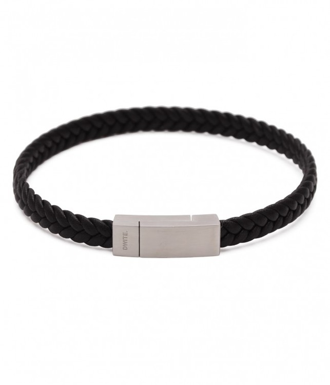 DWITE MAN | Armband | Aron Black Leather