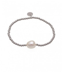 BUD TO ROSE | Armband | Baroque Pearl Silver