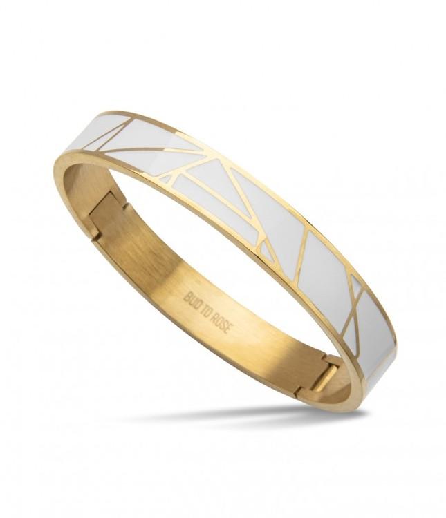 armband guld och vitt bud to rose