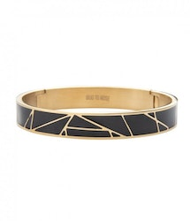 BUD TO ROSE | Armband | Rose Enamel Black/Gold