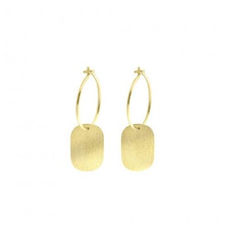 ANITA JUNE | Örhängen | Label...Not Hoop - 18K Guld
