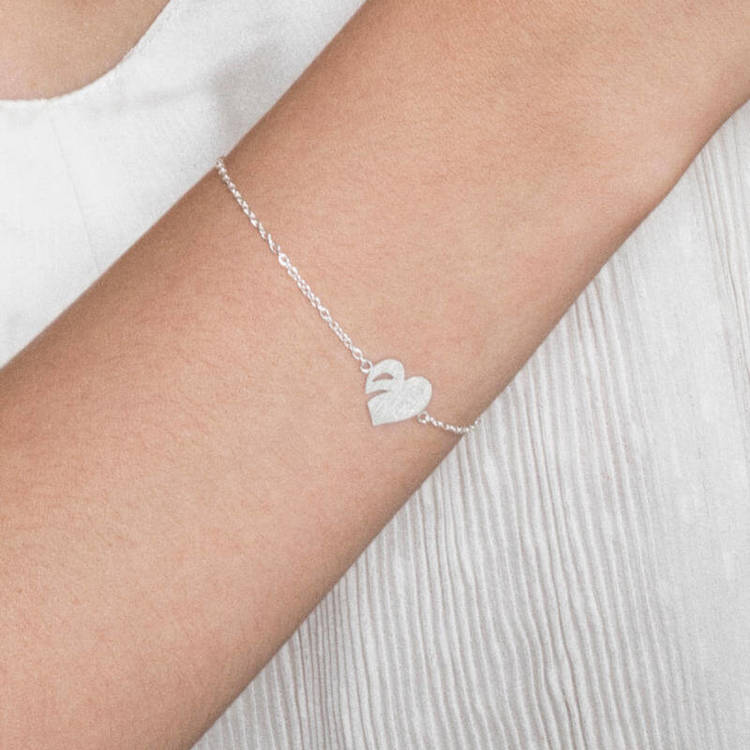 silverarmband leaf love anita june