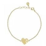 ANITA JUNE | Armband | Leaf Love - 18K Guld