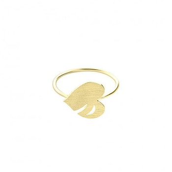 ANITA JUNE | Ring | Leaf Love - 18K Guld