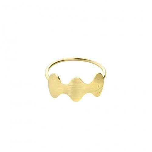 ANITA JUNE   Ring   Wave at Me - 18K Guld