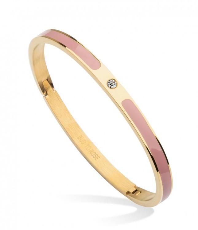 armband guld och rosa bud to rose