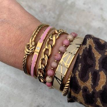 BUD TO ROSE   Armband   Faye Enamel Pink/Gold