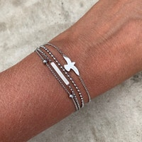 BUD TO ROSE | Armband | Dove Steel