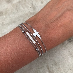 BUD TO ROSE | Armband | Dove Steel