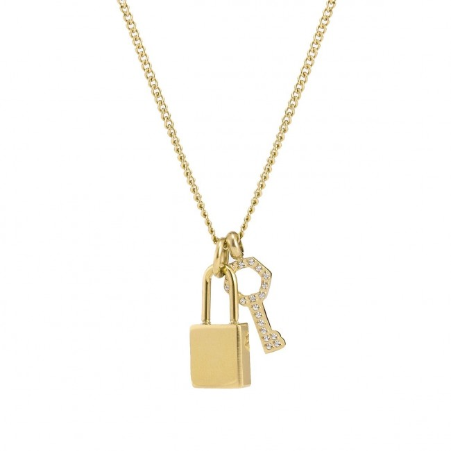 BUD TO ROSE | Halsband | Love Lock Mini Gold