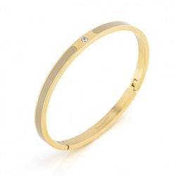 BUD TO ROSE | Armband | Faye Enamel Sand/Gold