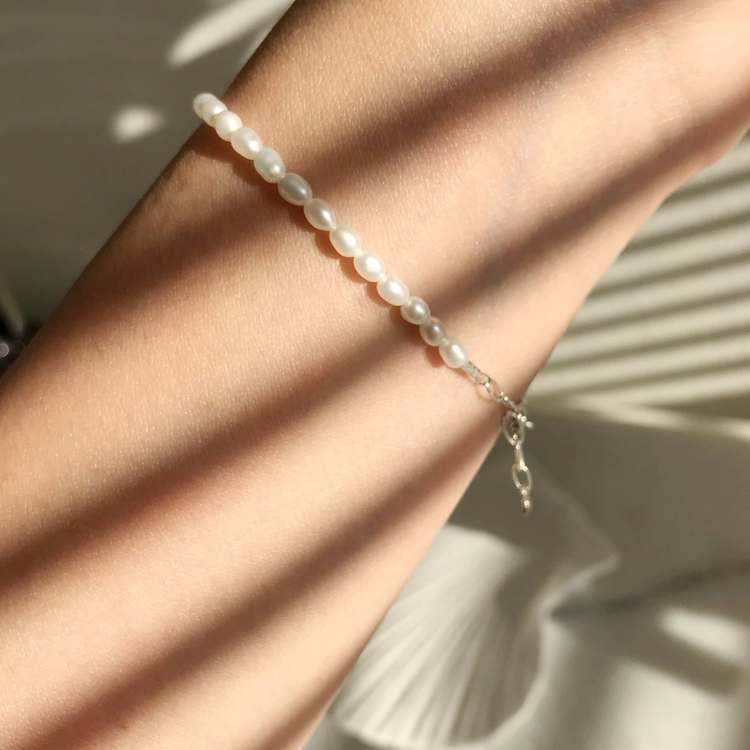 ANITA JUNE | Armband | Small Pearl - Silver