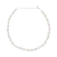 ANITA JUNE | Halsband | Big Pearl - Silver