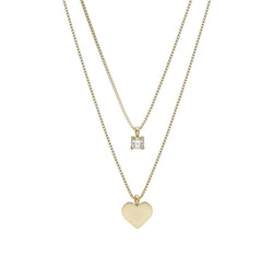 BUD TO ROSE   Halsband   Ice Heart Duo Gold