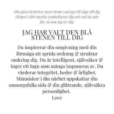 STAR OF SWEDEN | Kort halsband | Silver | Light Sapphire Blue