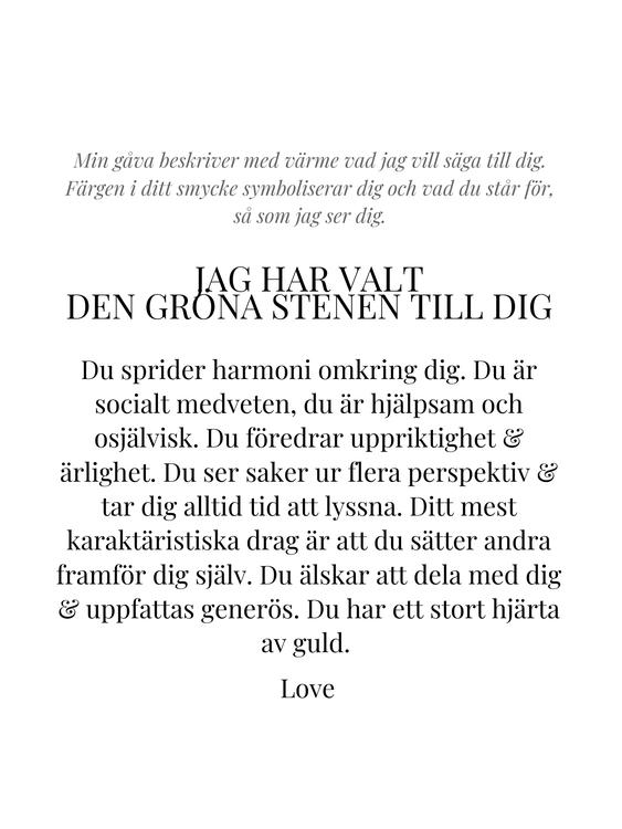 STAR OF SWEDEN   Kort halsband Ocean   18K Guld   Grön sten