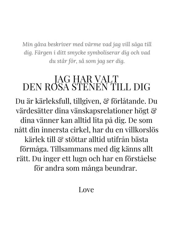 STAR OF SWEDEN | Långt halsband | Silver | Rosa sten