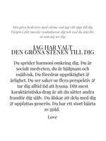 STAR OF SWEDEN | Långt halsband | Silver | Grön sten