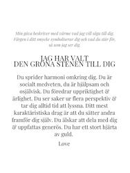 STAR OF SWEDEN | Långa örhängen | 18K Guld | Grön sten