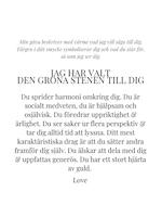 STAR OF SWEDEN | Långa örhängen | Silver | Grön sten