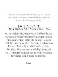 STAR OF SWEDEN | Långa örhängen | Silver | Rosa sten