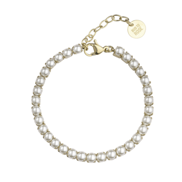 BUD TO ROSE | Armband | Pearl Tennis Gold