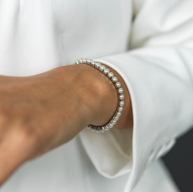 BUD TO ROSE | Armband | Pearl Tennis Silver