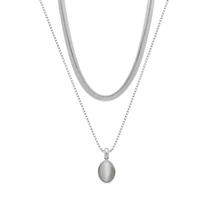 BUD TO ROSE   Halsband   Retro Duo Grey/Silver