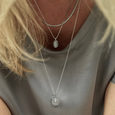 BUD TO ROSE | Halsband | Retro Duo Grey/Silver