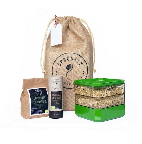 Presentpåse: Stapelbar odlingslåda + 2 fröförpackningar