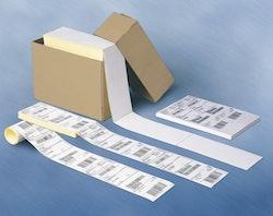 2.000 Transportetiketter i kartong med kvittodel. 105x251mm.