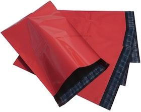 Röda postorderpåsar mailingbags i 3 storlekar! Från 35 öre påsen!