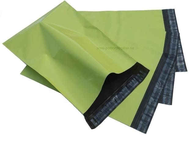 Gröna postorderpåsar mailingbags i 4 storlekar! Från 25 öre påsen!